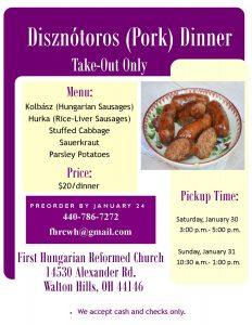 Disznótoros Ebéd Elvitelre @ Walton Hills-i Első Magyar Református Egyház | Walton Hills | Ohio | Egyesült Államok