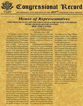 Congressional Record by Tom Lantos